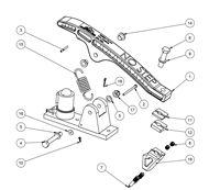 Grizzly Ski Drag Assembly Parts