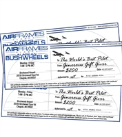 Gift Certificates from Airframes Alaska and Alaskan Bushwheels