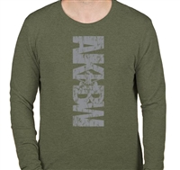 AKBW Long Sleeve Shirt in Military Green