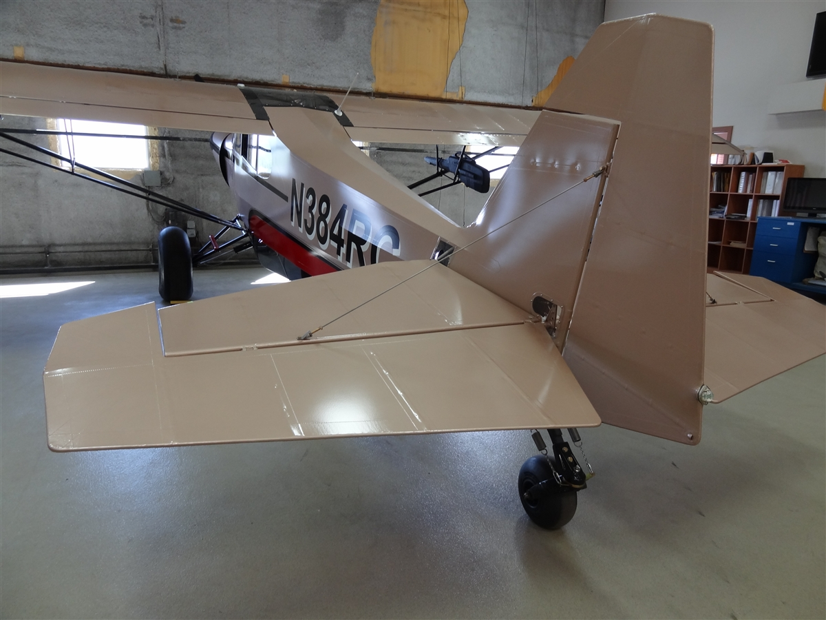 Pa 18 Control Surfaces Squared Rudder