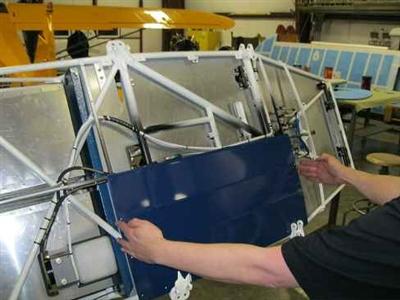Pa 18 Fuselage Mod Under Floor Metal Belly